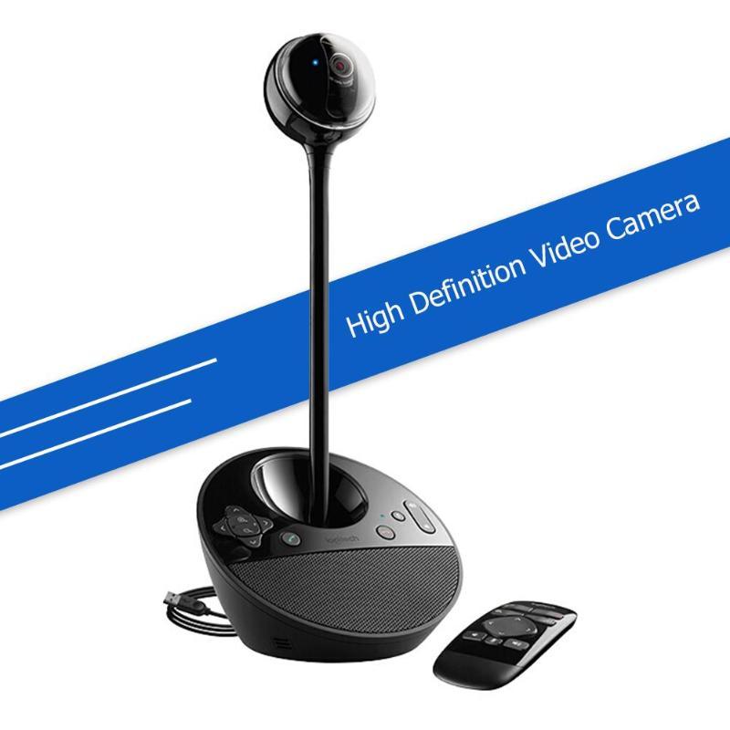 Cámara Web De Videoconferencia Logitech Bcc950 Full Hd 1080 P 30fps Con Altavoz Control Remoto Cámara Llamada Red