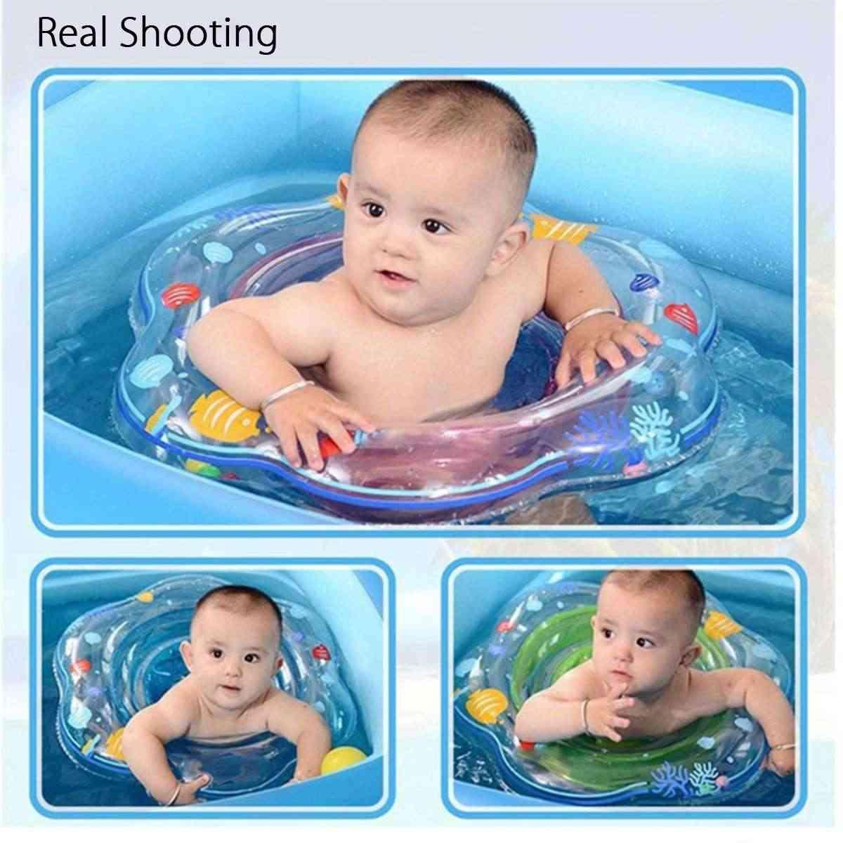 ベビー幼児脇フローティングキッズスイムプールアクセサリーサークル水着インフレータブルダブルいかだリングのおもちゃ