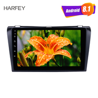 Harfey Android 8.1 GPS navi Car Multimedia Player Radio 2Din For 2004 2009 Mazda 3 9 inch Stereo support DAB+ TPMS head unit