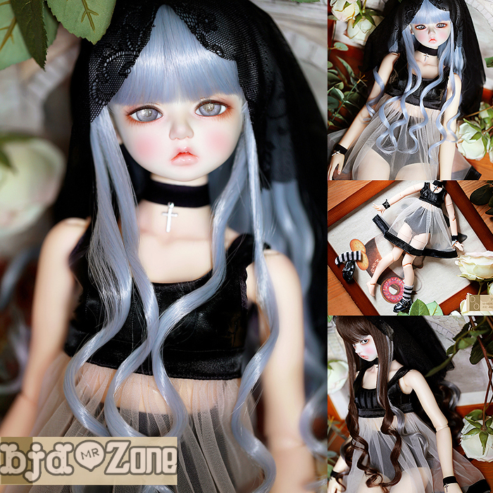 NEW Bjd Doll clothes 1 3 1 4 1 6 Black Dress suit sexy See through