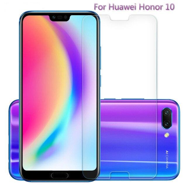 Verre trempé de qualité supérieure pour Huawei honour 10 protecteur d'écran 9 H 2.5D Film de verre de protection sur honour 10 5.84 pouces housse de protection