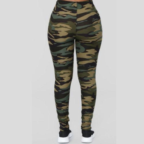 Women Ladies Long Pants Fitness Camouflage Casual v Popular Leggings Run Gym Exercise Trouser Long Pants