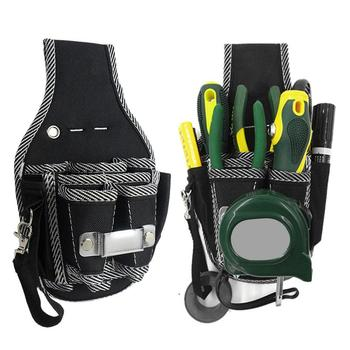 9-in-1 Drill Screwdriver Utility Kit Holder Top Quality Nylon Fabric Tool Bag Electrician Waist Pocket Tool Belt Pouch Bag