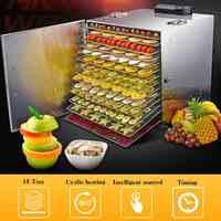 Warmtoo 220 V 1000 W professionnel 15 plateau déshydrateur alimentaire électrique en acier inoxydable alimentaire fruits viande séchoir déshydrateur végétal