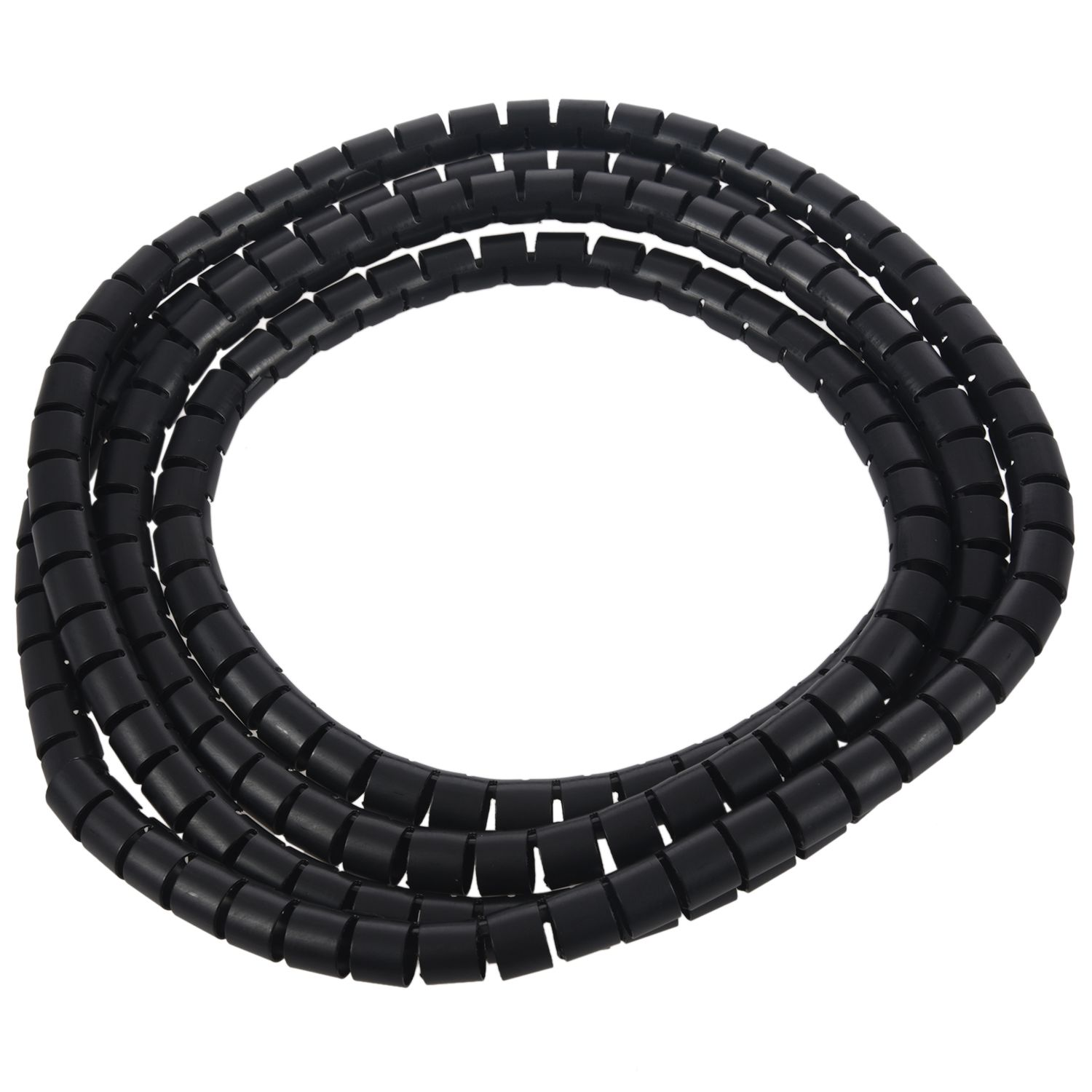 2m 10mm Interior Dia <font><b>Cable</b></font> Wire Wrap <font><b>Organizer</b></font> Spiral Tube <font><b>Cable</b></font> Winder Cord Protector Flexible Management Wire Storage Pipe image