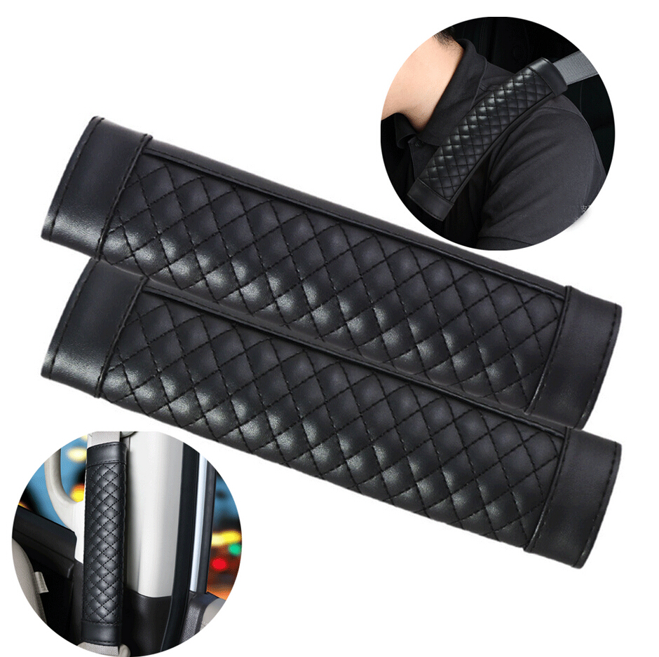 almohadilla para hombro ajuste de cintur/ón de seguridad para ni/ños y adultos 2 protectores universales para cintur/ón de seguridad de coche
