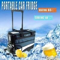 Портативный автомобильный холодильник мини рычаг холодный и теплый двойного назначения 12 В 12L AutoTruck домашний морозильник путешествия автом
