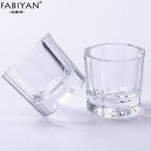 2 adet/grup cam kristal kase fincan Dappen bulaşık akrilik toz tutucu konteyner Nail Art manikür Salon araçları