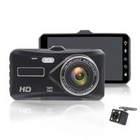 4 Inch Touch Screen Dual Lens Full HD 1080P Car DVR Night Vision Driving Video Recorder Rear View Reversing Camera