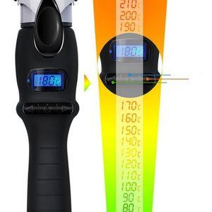 Image 4 - 液晶温度調整ヘアカーラープロのヘアカールアイアンカールカーリングワンドローラー美容スタイリングツール