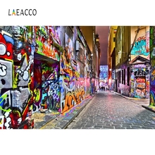 Laeacco Grunge Graffiti Pattern Passage Retro Photography Backgrounds Customized Photographic Backdrops For Photo Studio
