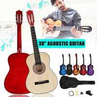 6 Color 38 Inch Modern Wooden Folk Acoustic Guitarra Bass Guitar Ukulele With Case Bag For Musical Instruments Lover