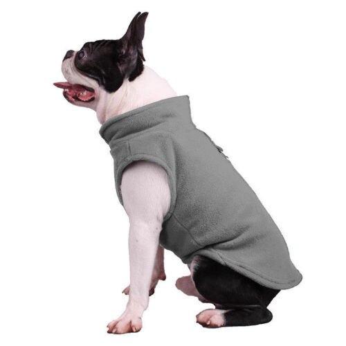 Dog Pet Puppy T-Shirt Jacket Fleece Vest Clothes Coat Apparel Costumes Warmer 3