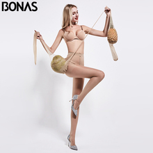 BONAS 12D Tights Women Big Size Nylon Thin Sexy Panty Collant Femme Solid Pantyhose Polyester Female Stockings Spandex