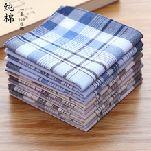 цена 5pcs -10pcs Novelty Wedding Gift Dining Table Plaid Handkerchiefs Men 100 Cotton Cloth Clothes Pocket Square Hanky 40CM онлайн в 2017 году