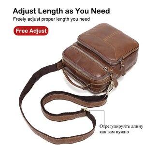 Image 3 - XDBOLO 2020 Bag Leather Shoulder Bag Single Strap Messenger Bag Solid Crossbody Bag for Mens Wholesale