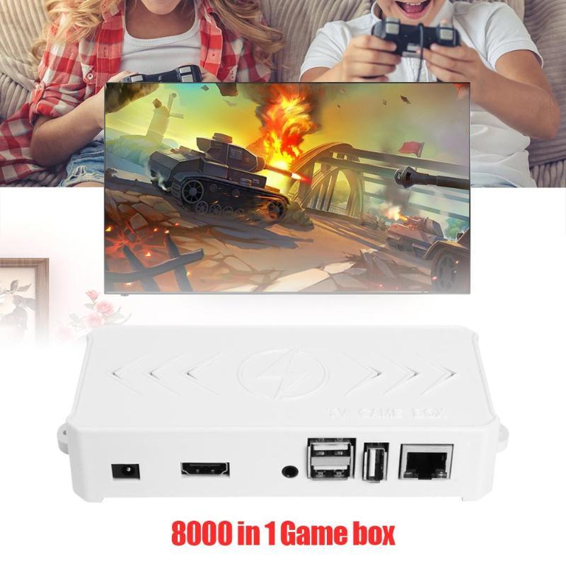 ALLOYSEED 8000 en 1 32G lecteur de boîte de jeu TV pour Orange Pi avec double contrôleur de manette filaire USB Joypad Console de jeu vidéo rétro