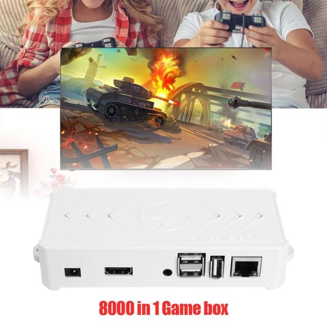 ALLOYSEED 8000 in 1 32G TV Game Box Player For Orange Pi With Dual USB Wired Gamepad Controllers Joypad Retro Video Game Console