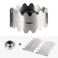 Portable Outdoor Alcohol Stove with Windproof Plate Windscreen Wind Shield Stand for Camping Hiking Backpacking