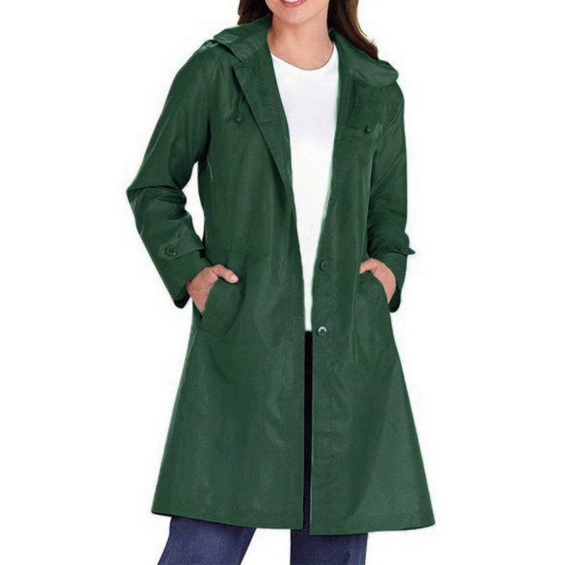 Basic Coat Women Turn-Down Collar Solid Colors Bomber   Trench   2019 Spring Casual Loose Thin Full Sleeve Long Women Outwear