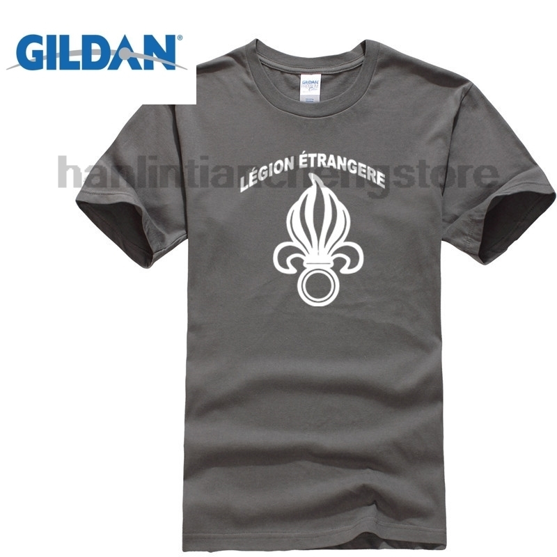 GILDAN 2018 Summer T Shirt O Neck Fashion Casual High Quality New French Foreign Legion Etrangere Military French Army T Shirt in T Shirts from Men 39 s Clothing