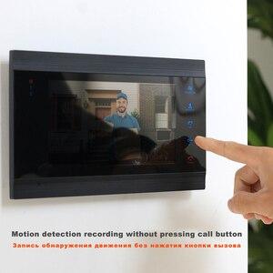 Image 3 - HomeFong וידאו דלת טלפון Wired דלת אינטרקום וידאו ביתי אינטרקום תמיכה תנועה לזהות שיא דלת מצלמה 7 אינץ אינטרקום