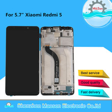 "5.7"" Original M&Sen For Xiaomi Redmi 5 LCD Screen Display With Frame+Touch Panel Digitizer Assembly For Redmi 5 Display"