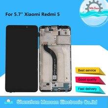 """5.7 """"orijinal M & Sen Xiaomi Redmi 5 için çerçeve ile LCD ekran + dokunmatik Panel sayısallaştırıcı meclisi redmi 5 için ekran"""