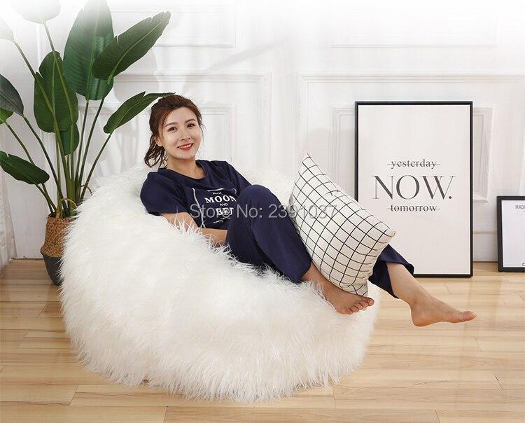 Canapé blanc Long en peluche pour chambre adulte canapé Tatami mini canapé enfants canapé fauteuil enfant détachable et lavable