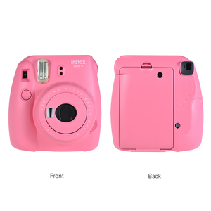 Image 2 - فوجي فيلم Instax Mini 9 كاميرا فورية فيلم Selfie مرآة الوردي 14 في 1 مجموعة كاميرا فورية 20 * Instax فيلم أبيض صغير ورق طباعة الصور