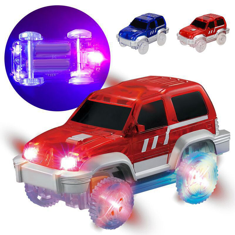 MAGIC TWISTER RACE TRACKS GLOW IN THE DARK LED LIGHT-UP CAR BEND FLEX KIDS TOY