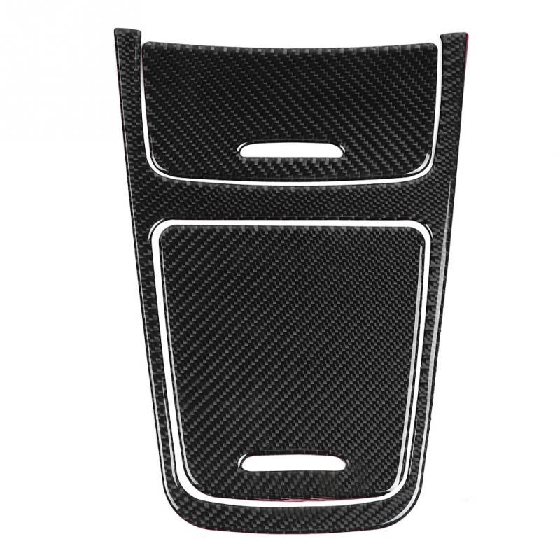 Carbon Fiber Central Control Panel Cover Trim for Mercedes A Class CLA GLA 2013 2019 car