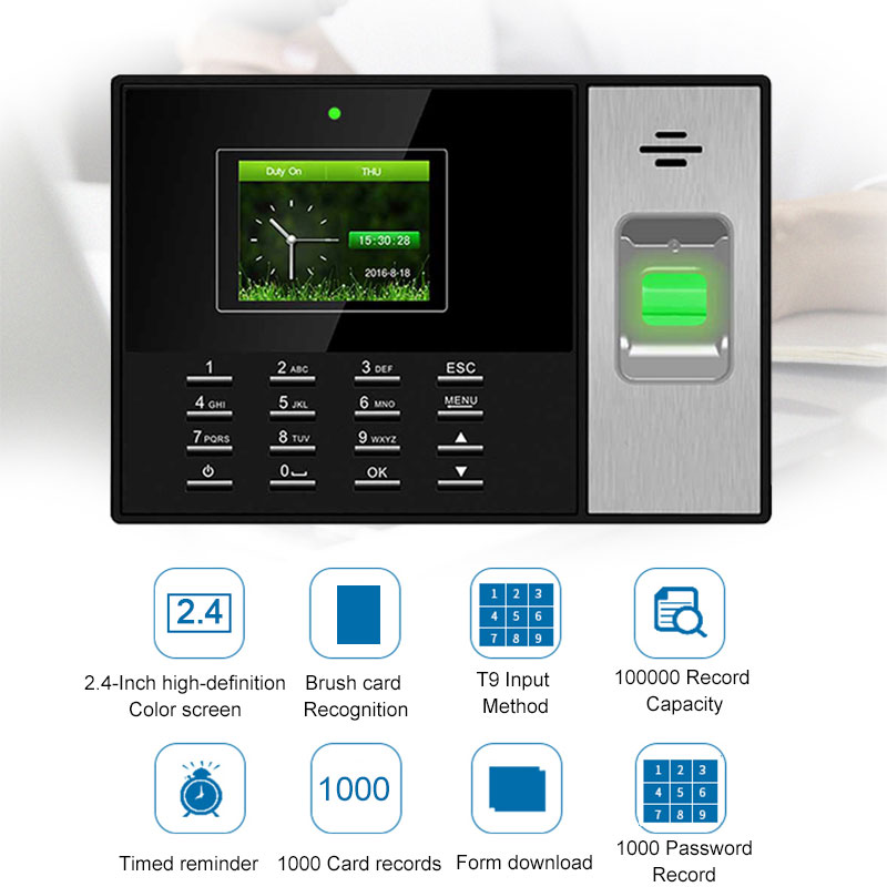 Eseye Time Attendance System TCPIP Time Clock Recorder Employee Recognition Device Electronic Fingerprint Attendance Machine   Eseye Time Attendance System TCPIP Time Clock Recorder Employee Recognition Device Electronic Fingerprint Attendance Machine