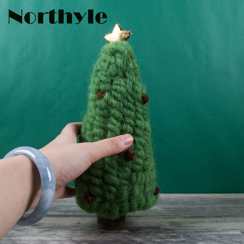 Northyle Wool Christmas Tree Figurine Christmas Gift Craft Miniature Vintage Home Decor Decoration Accessories Kid 39 s Gift in Figurines amp Miniatures from Home amp Garden