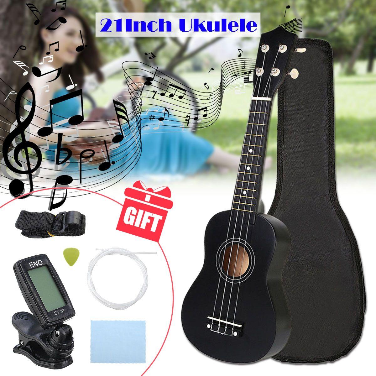 Zebra 21 polegada 4 Cordas Soprano Ukelele Havaiano Basswood Spruce Guitarra Instrumento Musical Definido Kits + Tuner + Corda + cinta + Saco