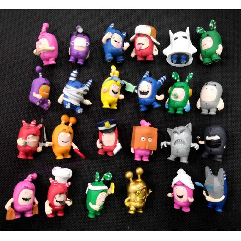 93f6fea257c Hotsale Random 20/50 pcs/lot Oddbods Toy Figures Zee Jeff Fuse Slick PVC