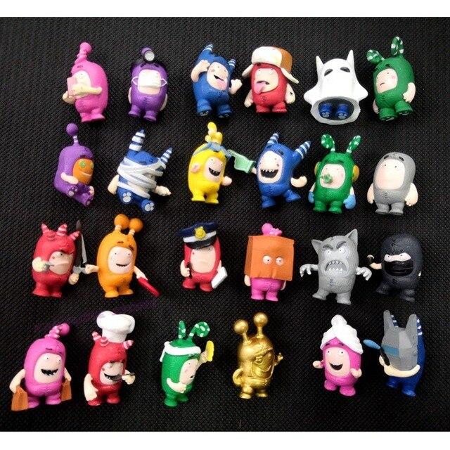 Venta caliente al azar 20/50 piezas/lote Oddbods figuras de juguete Zee Jef Fuse slip PVC figura de acción colección regalo fiesta regalo