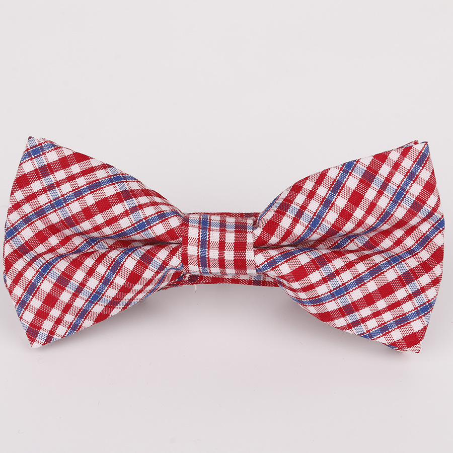 Boy's Accessories 2019 New Spot Childrens Bow Tie Cotton Cotton Small Plaid Children Show Photo Shirt With Baby Bow Tie Flower