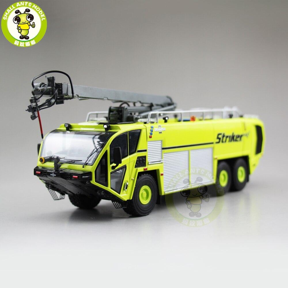 1/50 Striker OSHKOSH aéroport camion de pompiers moulé sous pression modèle camion voiture jouets pour enfants garçon fille anniversaire cadeau collection