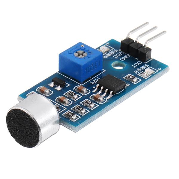 CLAITE 1pc High Sensitivity Sound Detection Module Microphone Sound Sensor Module Voice Sensor Whistle Module