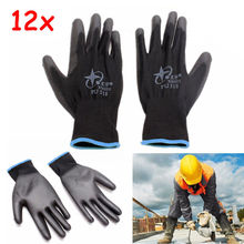 12 Pairs Coated Xtreme Safety Gloves Work Gloves Hand Protec