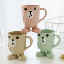 1Pcs Cartoon Cute Children Brushing Cups Mugs Baby Wash Students Anti-drop Cup