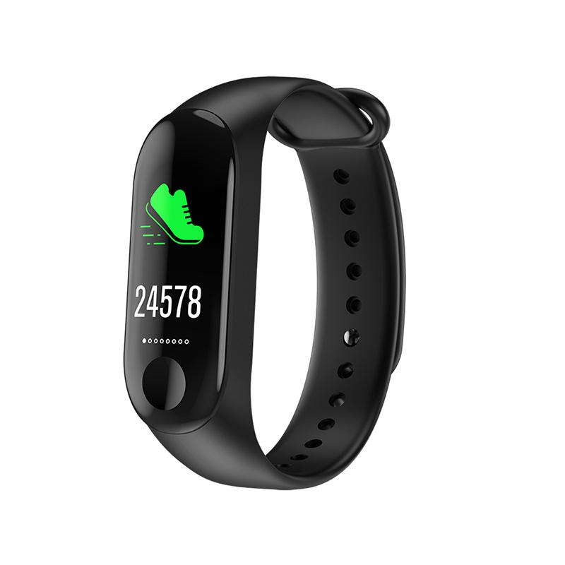 M3C Wristband Fitness Tracker Smart Bracelet men women IP68 waterproof Heart Rate Blood Pressure sleep Monitor For Android IOS