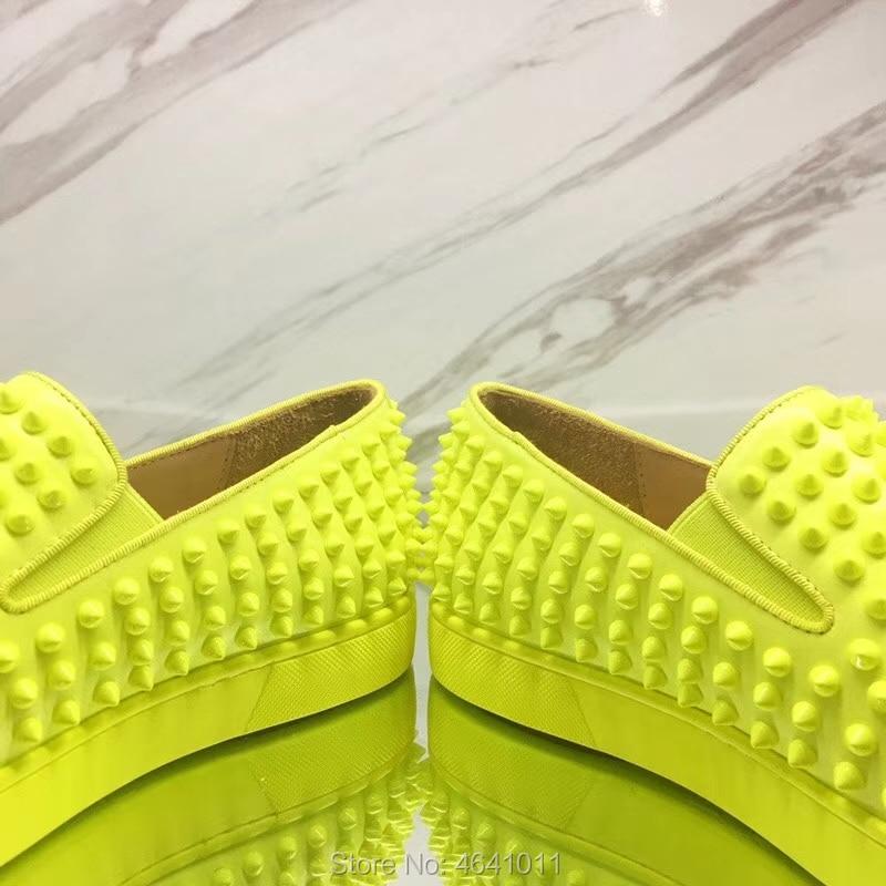 Amarillo Para Rojo Planos Casuales Encaje Zapatillas Bajo Cuero Hombre Zapatos Cl Mocasines Fondo Remache Fluorescente Andgz De Ocio Corte 2018 BqPYwv
