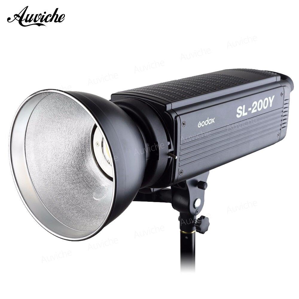 Godox SL-200Y 3300 k Studio LED Vidéo Lumière Remplir lumière Photo LED Lumière Bowens Mont Jaune Version pour Studio Vidéo