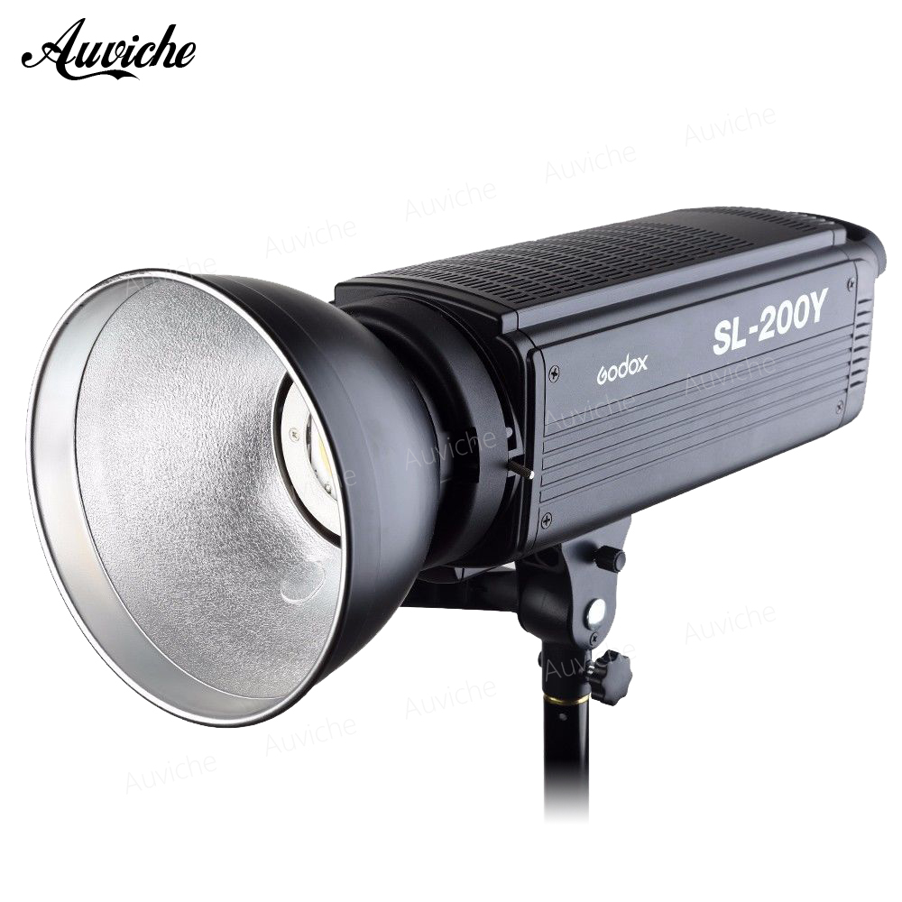 Godox SL-200Y 3300 k Studio Luce Video LED luce di Riempimento Foto HA CONDOTTO LA Luce Bowens Mount Giallo Versione per Studio Video