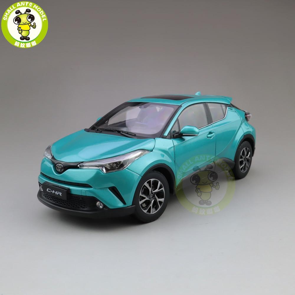1/18 Toyota CHR C-HR moulé sous pression SUV voiture modèle jouets enfants garçon fille cadeau couleur bleue