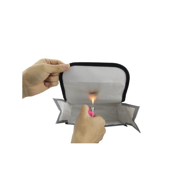 LiPo Battery Explosion-proof Safe Bag Fireproof Protective Storage Box 185x75x60mm for E58/H501S/B2W/B5W/S70W/TELLO