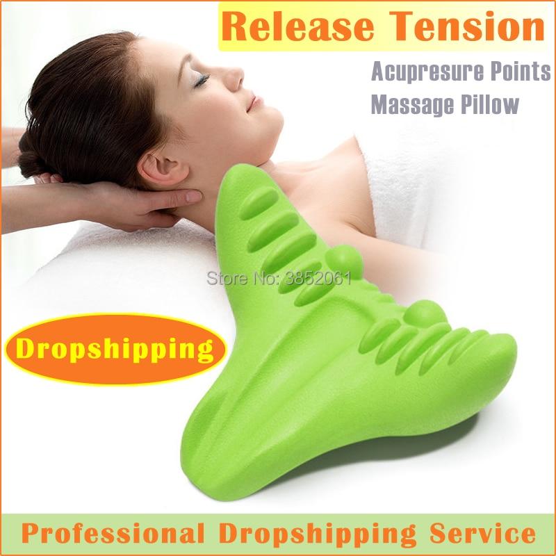Nouveau produit 2019 c-rest oreiller de Massage par gravité pour le soulagement de la douleur au cou masseur cou et épaule relaxant oreiller