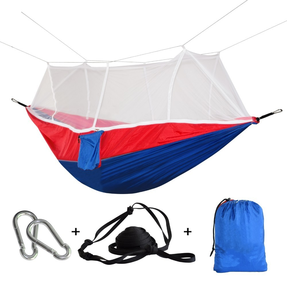 Ultralight Parachute Swing Hammock Folding Hunting Durable Mosquito Net Rede Camping Portable Bed Patio Garden Furniture Hamak